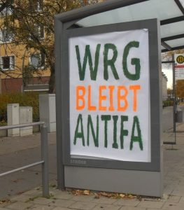 Plakat: WRG bleibt antifa