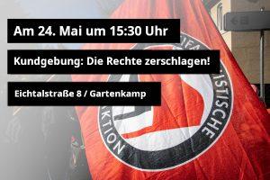 Kundgebung am Antifaschistischen Café am 24.5. um 15:30