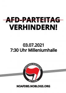 AfD Parteitag Verhindern! Am 3. Juli ab 7:30