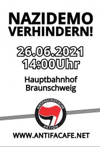 Plakat 26-06-2021 - Kundgebung gegen Nazis