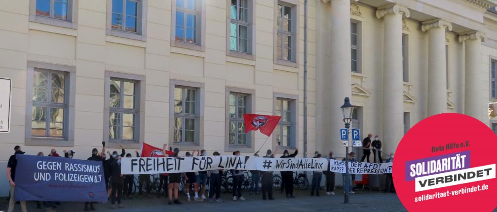 Foto vorm Amtsgericht Braunschweig.